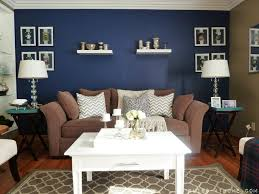 Navy Blue Living Room Navy Accent Wall In Living Room Carameloffers