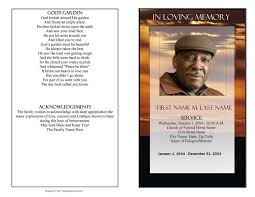 Microsoft Publisher Program Template Brown Sunset Funeral Program Template