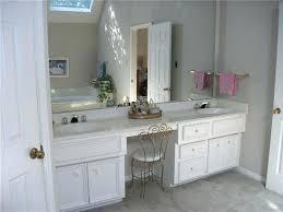 double sink bath vanity double sink bathroom vanity with makeup area in master bath the vanity double sink