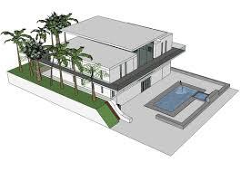 Ecohome Design Modern Eco Home Design Sketchup Model Cad Blocks Free