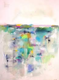 large colorful abstract landscape original acrylic painting spring landscape 36 x 48 von lindadonohue auf