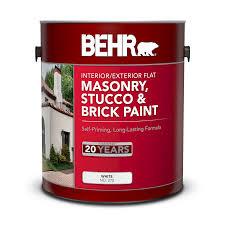 Interior Exterior Masonry Stucco And Brick Flat Paint Behr