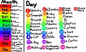Colors Live Random Birthday Chart By Sketchy_smeargle