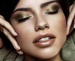 gold bronze metallic eye makeup