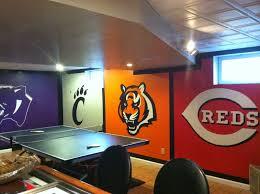 Meade's Sports Themed Basement