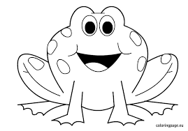 Small Picture Frog coloring page