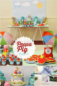 Puddle Jumping Boys Birthday Party Fun With Peppa Pig Spaceships