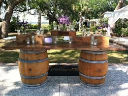 Wine barrel bar plans Whiskey Amazing Home Enthralling Wine Barrel Bar Table On Half Wine Barrel Bar Table Challengesofaging Challengesofaging Impressive Wine Barrel Bar Table At Food Or Drink Station Marquee