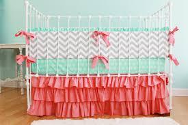 image of beautiful girl crib bedding
