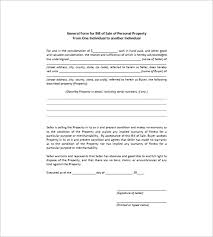 General Bill Of Sale Form Free General Bill Of Sale 18 Free Word Excel Pdf Format