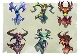 Demon Horn Designs Some Demon Heads Design Made For Fun Conceptart