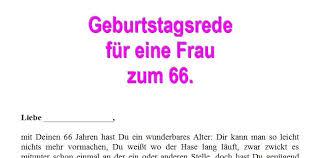 Geburtstagsrede Zum 66 Geburtstag Für Eine Frau
