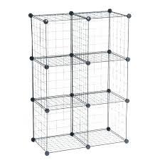 stack and rack grids metal grid storage cubes bathroom