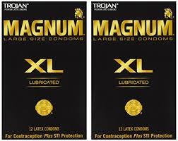 magnum xl size trojan magnum xl lubricated condoms 12 ct pack of 2 buy online
