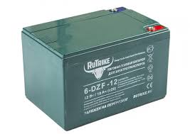 <b>Тяговый гелевый аккумулятор RuTrike</b> 6-DZF-12 (12V12A/H C2)