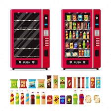 Vending Machine Empty Custom Empty And Full Vending Machine With Snacks By StartStock GraphicRiver
