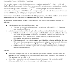 Solved Problem 2 6 Points Matlab Flow Chart You Are