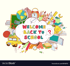 Welcome Back Graphics Cloud Frame Greeting Card Welcome Back To School