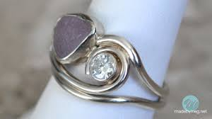 design 5 the philippine sea glass engagement ring angle view