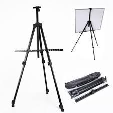 hot folding artist telescopic field studio painting easel tripod display stand