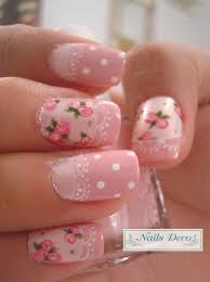 Pink Nail Art Design 50 Lovely Pink And White Nail Art Designs