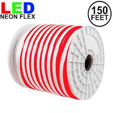 120 Volt Red Led Light 150 Feet Led Neon Flex Rope Light Spool 120v