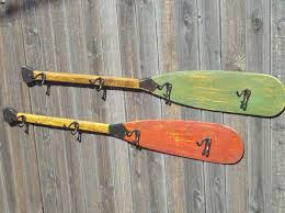 Cabin Coat Rack Painted Paddle Coat Hooks Rocky Mountain Cabin Decor Bedroom 62