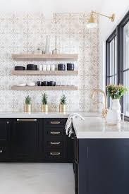 alyssa rosenheck light gray mosaic tiles with black cabinets black and white tile floor kitchen