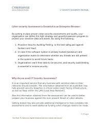 Assessment Example Sample Threat Assessment Sample Security Risk Assessment Example ...