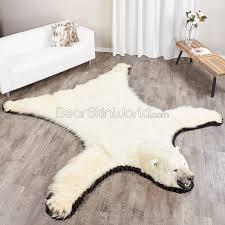 8 foot 244cm polar bear rug 12250