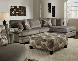 Two Piece Living Room Set New Large Groovy Gray Padded Velvet Sectional With Built In Chaise
