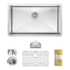 Ariel Pearl 17 Inch Stainless Steel Undermount Single Bowl Kitchen 25 Inch Undermount Kitchen Sink