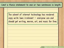 the best way to write a thesis statement examples  image titled write a thesis statement step 9