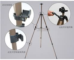 free high quality metal hand folding aluminum easel stand tripod sketch pad easel retractable painting