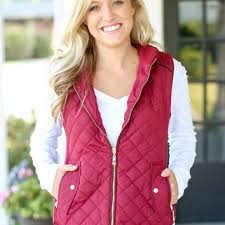 Quilted Riding Vest - Crimson from Hazel and Olive | New wardrobe & Quilted Riding Vest - Crimson Adamdwight.com