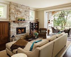 living room ideas with stone fireplace stone fireplace ideas cozy nature inspired home designrulz dma