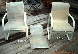 outdoor sling chair fabric patio furniture replacement slings in new jersey with lines champagne outdoor fabric