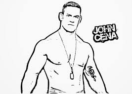 Small Picture Beautiful John Cena Coloring Pages 90 About Remodel Picture