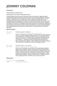 Desktop Support Engineer Resume samples
