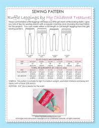 Baby Leggings Pattern New Baby Leggings Sewing Pattern And Girls Leggings Sewing Pattern