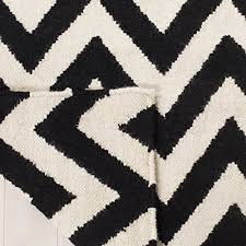 safavieh dhurries collection dhu557l hand woven black and ivory premium wool area rug 8