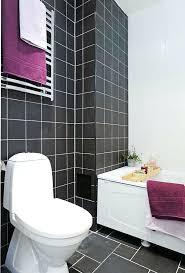 bathroom idea grey tile purple black floor tiles w accent and white decor