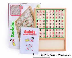 Sudoku Wooden Board Game Instructions Free ShippingWooden toy adult intelligence game sudoku square 41