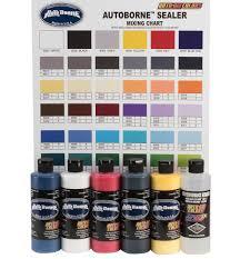 6100 00 8oz Autoborne Primary Set W Mixing Chart