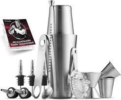 <b>14PC</b> Stainless Steel <b>Cocktail Shaker</b> Mixer Drink Bartender Martini ...