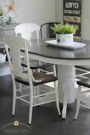 round country kitchen table beautiful farmhouse style painted kitchen table and chairs makeover