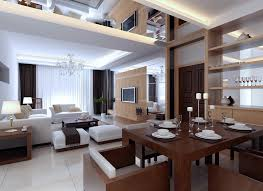 contemporary white living room furniture. Appealing Duplex House Interior Design With Elegant White Living Room And Contemporary Dining Furniture As Well Crystal Chandelier Plus Candle