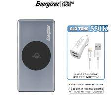 Sạc dự phòng Energizer BÁO XÁM 10,000mAh QE10000 - tích hợp sạc không dây 5W,  3 cổng output tiện lợi - Hàng chính hãng