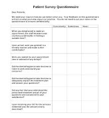 Printable Survey Template 6 Employee Questionnaire Examples Samples Pre Employment Health