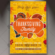 thanksgiving party flyer thanksgiving family party autumn flyer psd template psdmarket